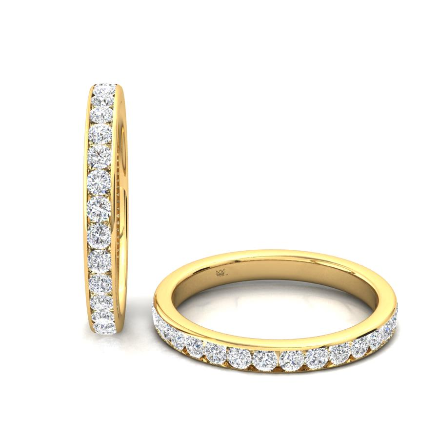Round Brilliant Cut Channel Set Diamond Ring in 9ct Yellow Gold