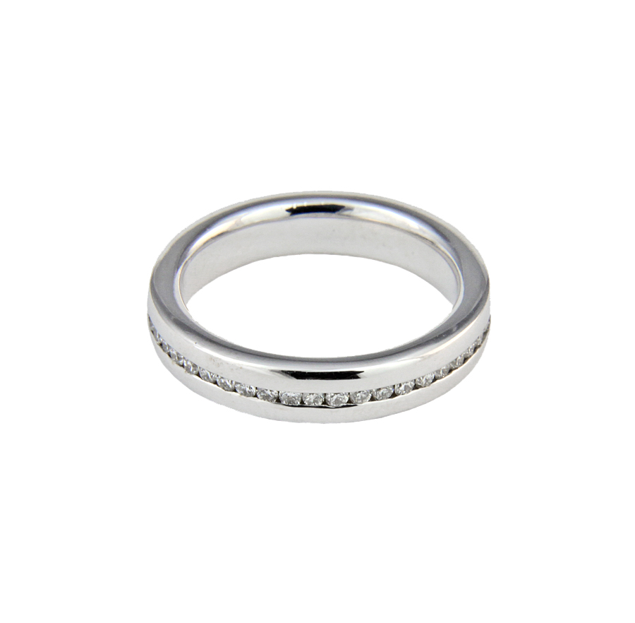 thin channel set ring gt wedding rings gt